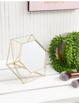 Chickidee Gold Geo Desk Mirror by Chickidee