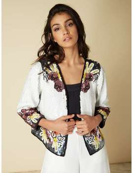 Orchid Full Embellished Jacket by Issa