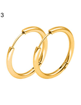 Jn  Men Women Punk Stainless Steel Ear Hoop Circle Earrings Jewelry Gift Fashi by Auwoodfashionus