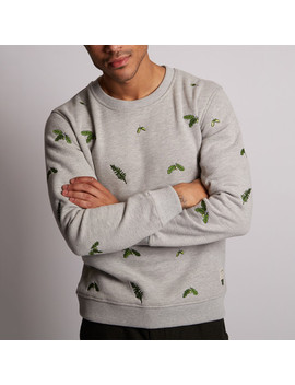 Fern Woodland Embroidery Sweater // Grey Marl by Touch Of Modern