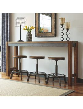 Signature Design By Ashley Torjin 72 In. Long Counter Height Console Table by Signature Design By Ashley