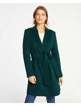Petite Belted Chesterfield Coat by Ann Taylor