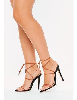 Orange Rope Pointed Toe Heeled Sandals by Missguided