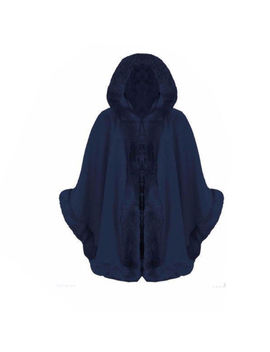 Women Ladies Designer Faux Fur Hooded Cape Poncho Warm Winter Thick Coat Size Uk by Ebay Seller