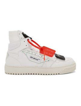 White Low 3.0 Off Court High Top Sneakers by Off White