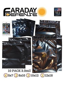 Faraday Cage Bags Complete 10pc Kit Emp/Esd Yellow Shield   Survivalists/Preppers by Amazon