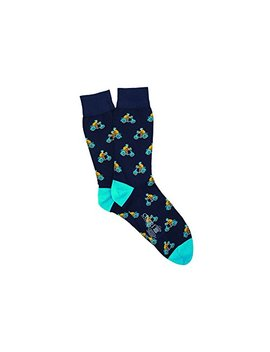 Corgi Mens Moped Pattern Lightweight Cotton Socks Navy by Corgi Socks