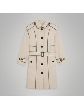Piping Detail Tropical Gabardine Trench Coat by Burberry
