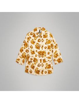 Floral Velvet Jacquard Car Coat With Warmer by Burberry