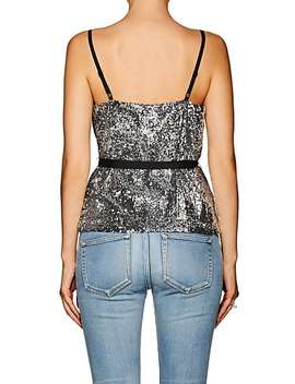 Lace Trimmed Sequined Wrap Front Cami by Robert Rodriguez