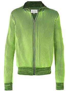 Zip Embellished Knit Cardigan by Maison Margiela