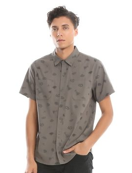 Harry Potter Horcrux Woven Button Up by Hot Topic