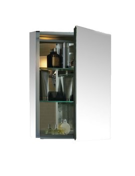 "K Cb Clc2026 Fs Kohler 20"" X 26"" Aluminum Medicine Cabinet With Mirrored Door & Reviews by Kohler"