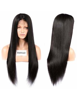 Human Hair Wig Sm Hair Short Human Hair Wigs For Black Women Human Hair Straight Brazilian Wigs Lace Front Wigs Human Hair Pre Plucked Natural Hairline With Baby Hair 10'' by Sm Hair