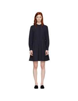 Navy Audrey Belted Dress by A.P.C.