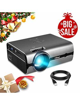 "Projector, Ci Best Video Projector With 2500 Lux 170"" Display Portable Mini Led Home Theater Entertainment Projector1080 P Supported, Compatible With Ps4, Hdmi, Vga, Tf, Av And Usb by Ci Best"