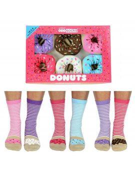 United Oddsocks Donuts Everyday Women Size 4 8 Uk Six Socks All Odd Gift Box by Ebay Seller