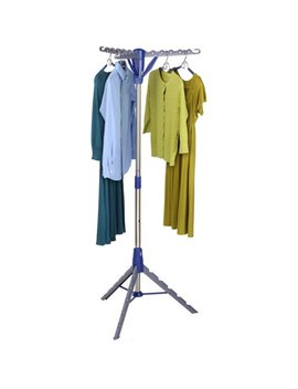 "Honey Can Do 64"" High Tripod Drying Rack, Chrome/Blue by Honey Can Do"
