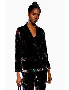 Floral Velvet Jacket by Topshop