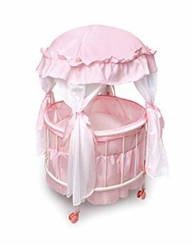 Badger Basket Royal Pavilion Round Doll Crib With Canopy And Bedding (Fits American Girl Dolls) by Badger Basket