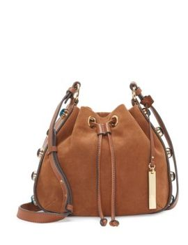 Cab Leather Bucket Bag by Vince Camuto