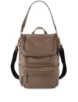 Patch Leather Backpack by Vince Camuto