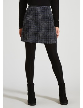 Check Jacquard A Line Skirt by Matalan