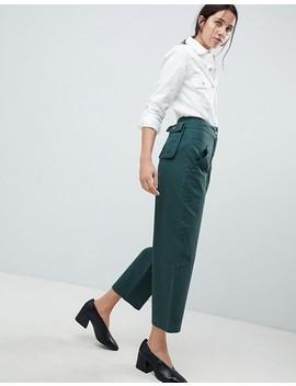 Asos Design   Pantalon Bouffant Avec Poche Amovible à L'arrière   Vert Forêt by Asos Design