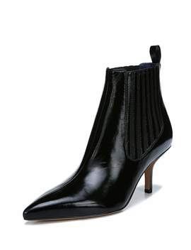 Mollo Pointed Leather Booties by Diane Von Furstenberg