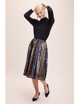 Rosalie Sequin Midi Skirt by Anthropologie