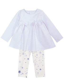 Baby Girls 2 Pc. Bow Tunic & Star Print Leggings Set, Created For Macy's by First Impressions