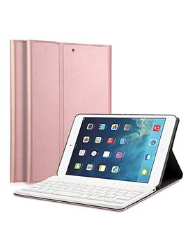 "I Pad Mini 1/2/3 Keyboard Case   Luckydiy 7.9"" Ultra Slim Shell Stand Cover With Magnetically Detachable Wireless Bluetooth Keyboard For Apple I Pad Mini 1 / Mini 2 / Mini 3 by Luckydiy"