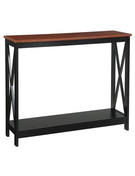 Oxford Console Table Black/Cherry Medium Convenience Concepts by Convenience Concepts