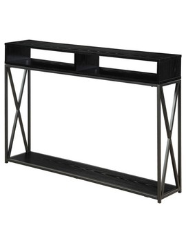 Tucson Deluxe 2 Tier Console Table   Black   Convenience Concepts by Convenience Concepts