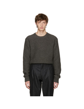 Taupe Mohair Crewneck Sweater by Stella Mccartney