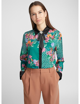 Jewel Knot Dotted Floral Shirt by Icône
