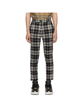 Black & White Check Serpentine Trousers by Burberry