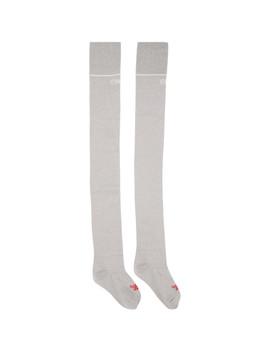 Grey Reebok Edition Lurex Over The Knee Socks by Vetements