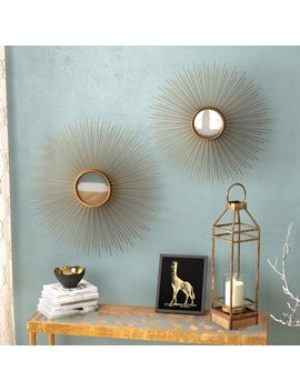 Willa Arlo Interiors Melora Sunburst Round Metal Wall Mirror & Reviews by Willa Arlo Interiors