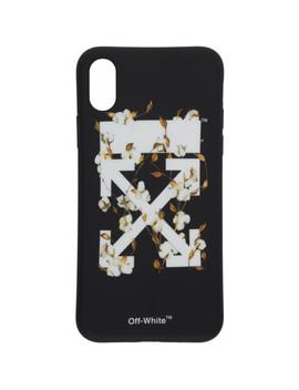 Black & White Cotton Flower I Phone X Case by Off White