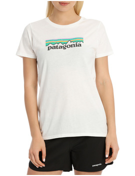 Women's Pastel P 6 Logo Cotton Crew by Patagonia