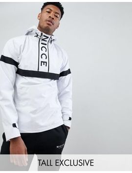 Nicce Overhead Windbreaker Jacket In White Exclusive To Asos by Nicce