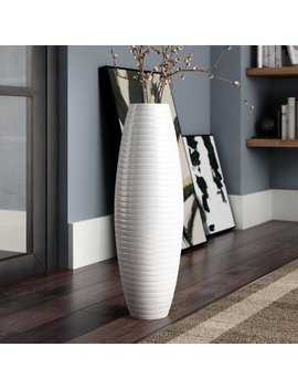 Orren Ellis Stinchcomb Ceramic Floor Vase & Reviews by Orren Ellis