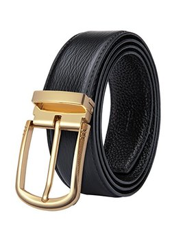 Dubulle Mens Leather Belt Classic Formal Business Belt,,Black Brown Pure Cowhide Leather Belt by Dubulle