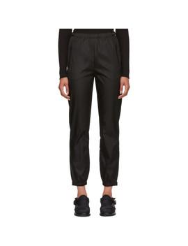Pantalon De Survêtement En Nylon Noir by Prada