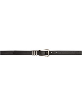 Black & Silver Western Belt by Givenchy