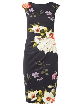 **Billie &Amp; Blossom Navy Bloom  Print Bodycon Dress by Dorothy Perkins