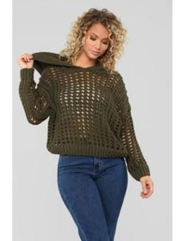 One Love Sweater   Olive by Fashion Nova
