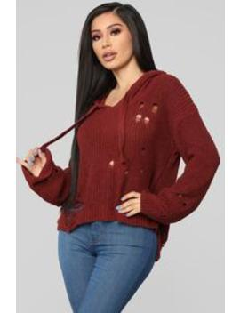 All Caught Up Sweater   Rust by Fashion Nova