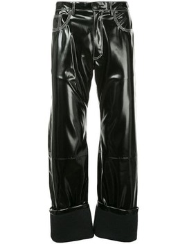 Rubberised Turn Up Trousers by Wales Bonner